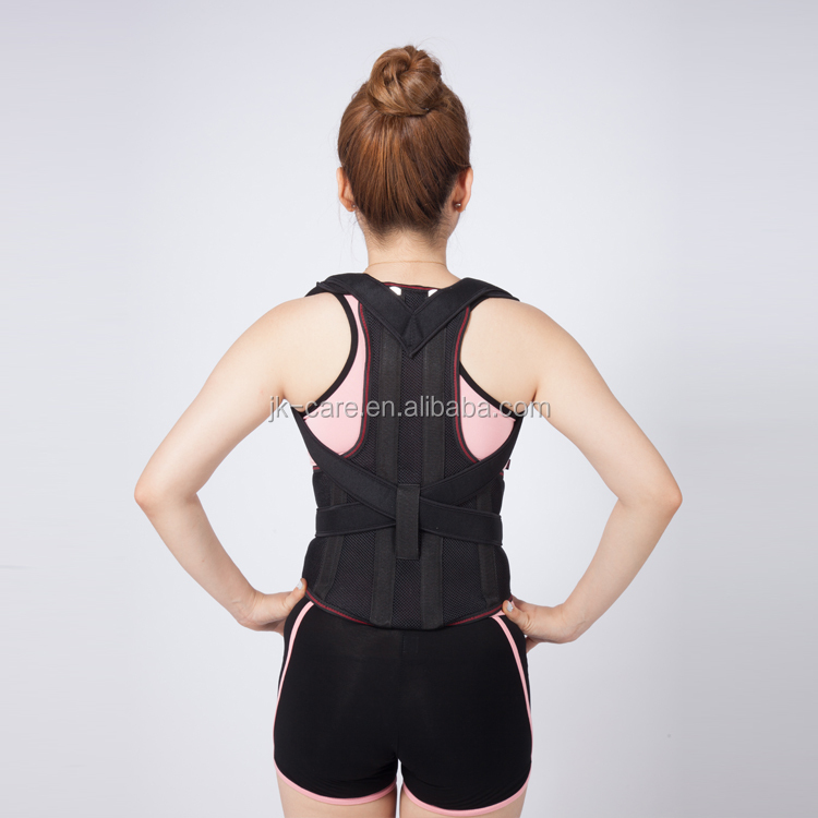 2016 new products medical body healthcare posture corrector / back and shoulder support belt with steel bars support