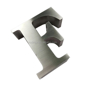 Custom Advertising Factory Brushed Stainless Steel 3D Changeable Metal Channel Letter Signs