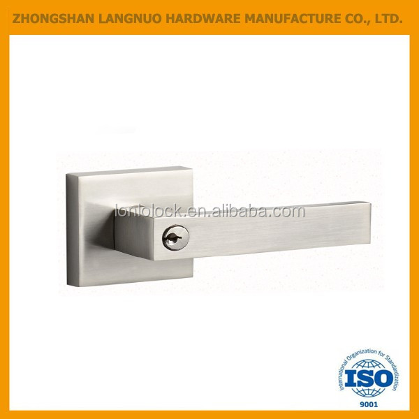 Dummy Lever Door Lock Satin Nickel Finish Knob Handle Lockset