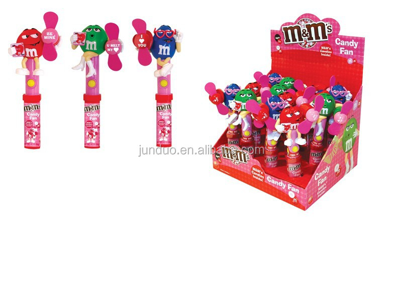 M&m Valentine Candy Toy Fan