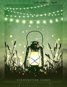 Beautiful Forest Fireflies LED Canvas Painting For Kids Room Decoration