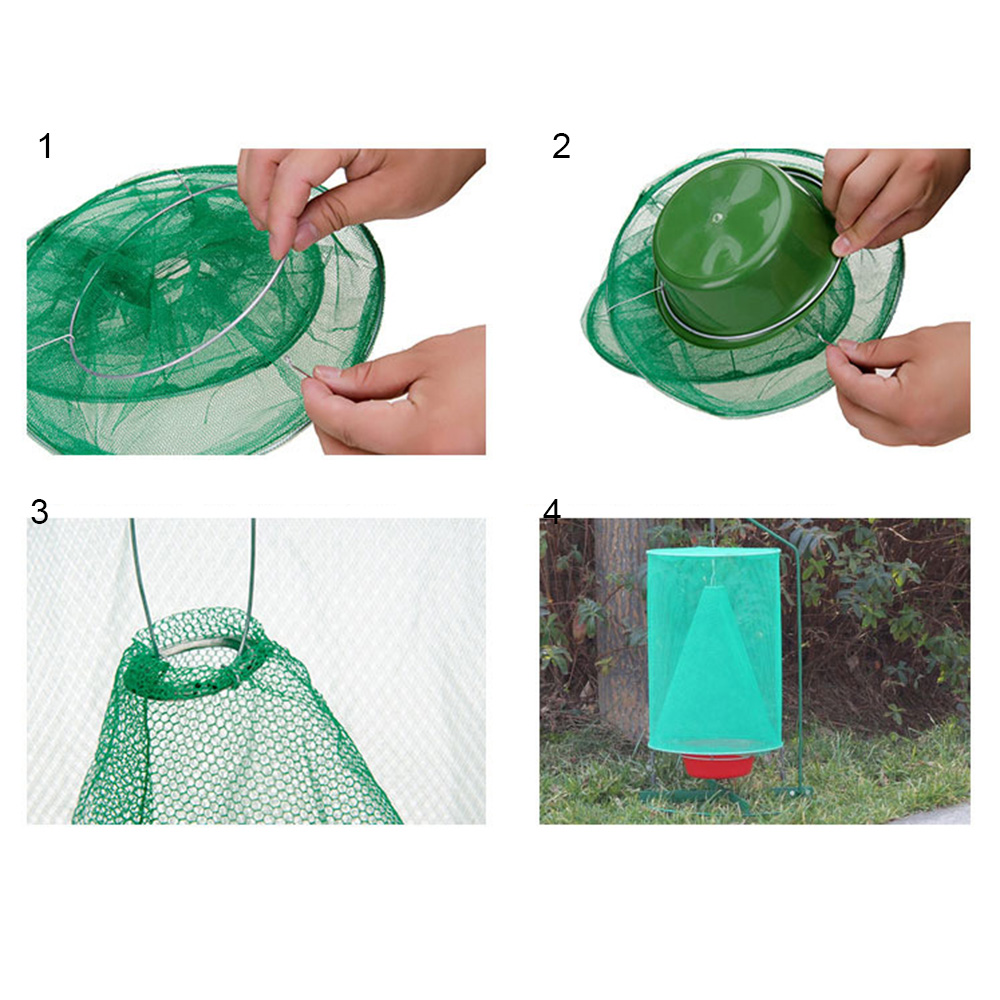 Hanging Flycatcher Reusable Folding Fly Trap Summer Mosquito Trap Top Catcher Fly Wasp Insect Bug Killer Fly catcher