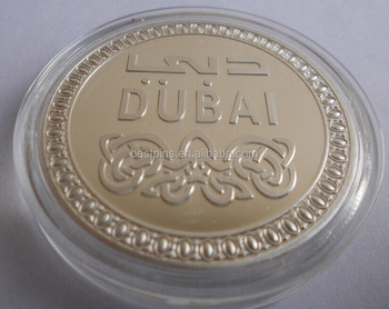 Calidad De Oro Dubai Recuerdo Moneda Metal