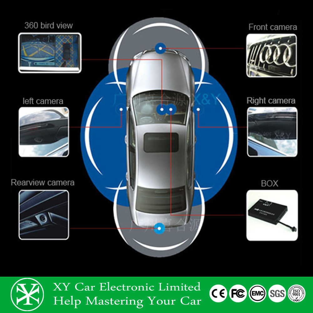 vehicle car blackbox mobile dvr 360 degree bluetooth back camera with cheap price XY-360