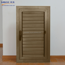 Good quality aluminum profile decorative exterior crank opening shutter