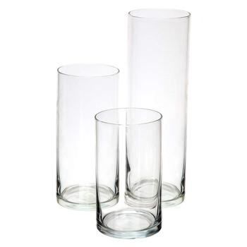 Wholesale Cheap Tall Decoration Different Size Glass Crystal Vases
