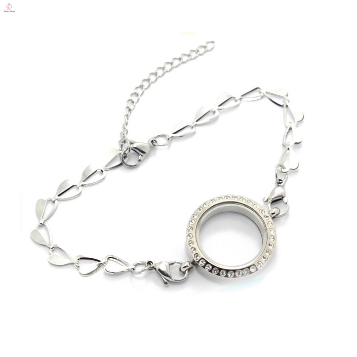 New arrival stainless steel butterfly chain slave bracelet jewelry, bracelet with locket pendant