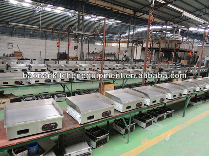 food processing machine commercial countertop griddle grill with ce certificate
