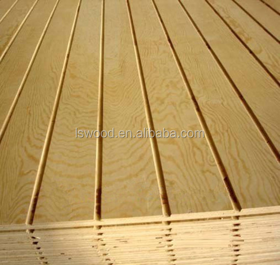 Birch Faced Slotted Plywood Siding Panel Grooved Plywood