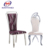 Guangdong hot sale comfortable modern stainless steel dining banquet chair