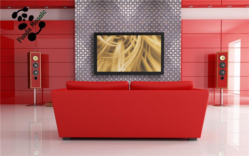 Paars Woonkamer Interieur : Mb smp interieur wandtegel ontwerp gegalvaniseerde zilver en