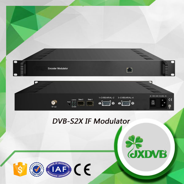 4 AV Input 16 Channels Multiplexing MPEG 2 TS to Agile QAM Encoder Modulator
