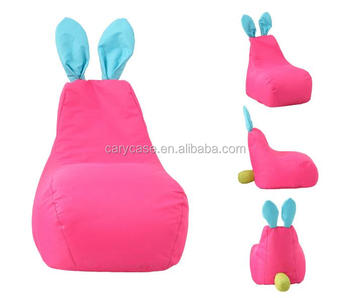 80cm X 60cm Cartoon Pink Rabbit Bean Bag Chair, Outdoor Waterproof Beanbag,  Room Corner