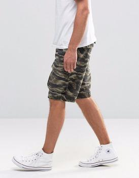 slim camo shorts