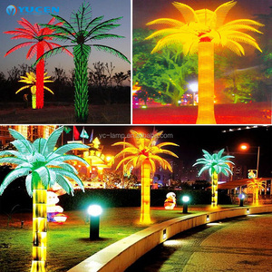 outdoor artificial landscape decoration led coconut palm tree light
