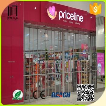 Shop Front Door Folding Doors Price /commercial Entry Doors/aluminum ...