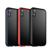 2019 new arrivals frosted shockproof mobile accessories XR back cover luxury TPU case for cellphone