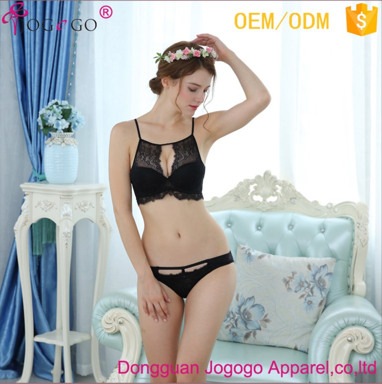 113ff8c5ad9f1 2018 Fancy Women Sexy Transparent Embroidery lace bra and panty set push up  bra set
