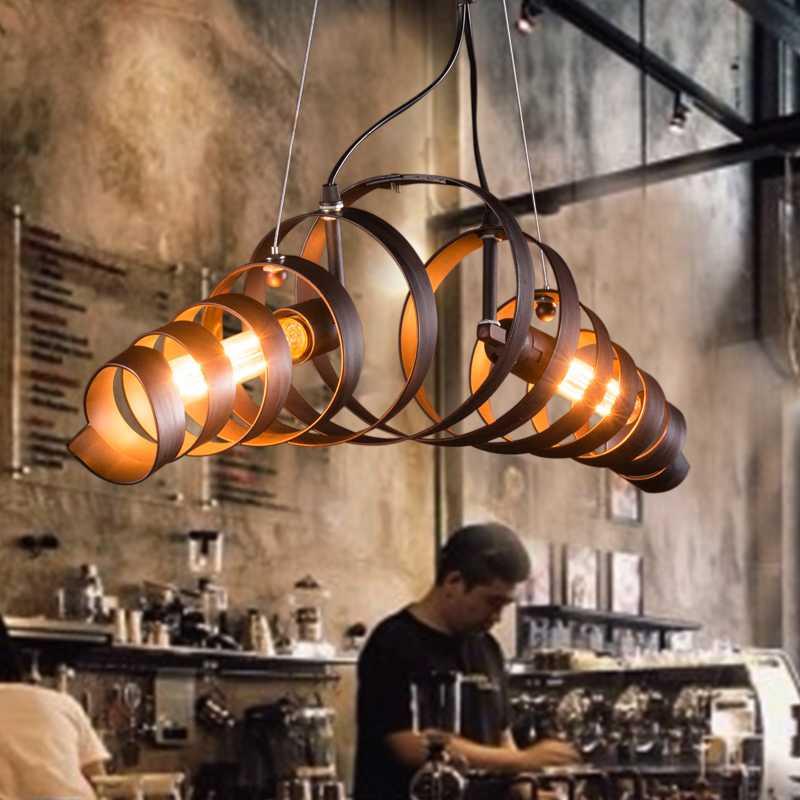 vintage lustre pendant light industrial wine barrel ring pendant lamp e27 for decor loft hanging. Black Bedroom Furniture Sets. Home Design Ideas