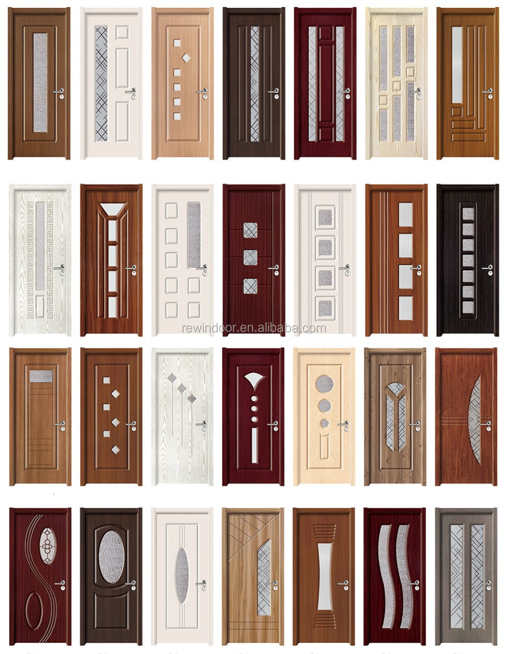 Anti theft new design wooden mosquito net door design for New main door design
