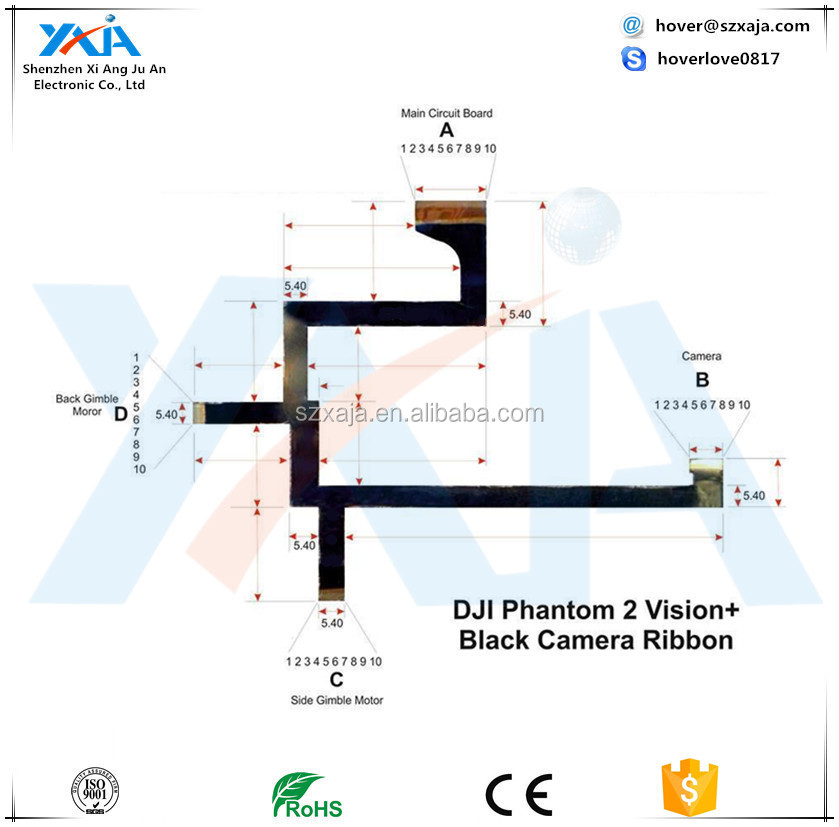 phant 2 vision plus cam wire spare replacement dji camera ribbon rh alibaba com
