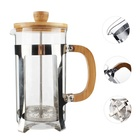 Bamboo French Press Coffee Maker Heat-resisting 350ML