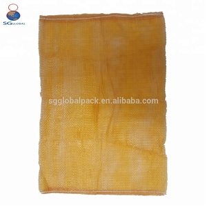 Raw material red plastic pp tubular potato mesh bag