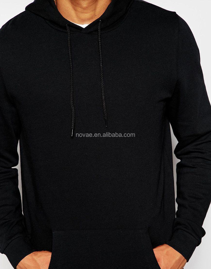 Zwarte Heren Trui.Custom Heren Trui Hoodies Geen Logo Uniek Design Overhead Beug