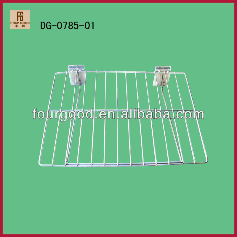 Hang mesh metal chrome-plated shoe shelf for shoes displaying
