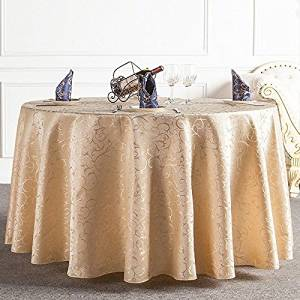 """Round LaceTablecloths Golden Beige Wedding Table Ø 59/"""" Table Covers Tea cloth"""