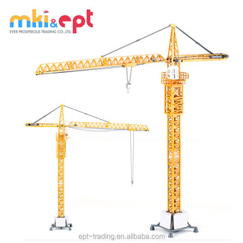 China wholesale 1 50 scale construction tower crane toys diecast toy crane  for sale 6184c02f581d
