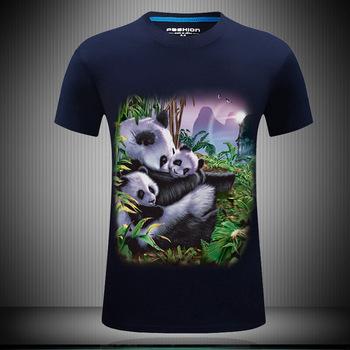 2b2d456d0f8d Men 3d Print Panda Family Navy Black Plus Size T Shirt Tee - Buy ...