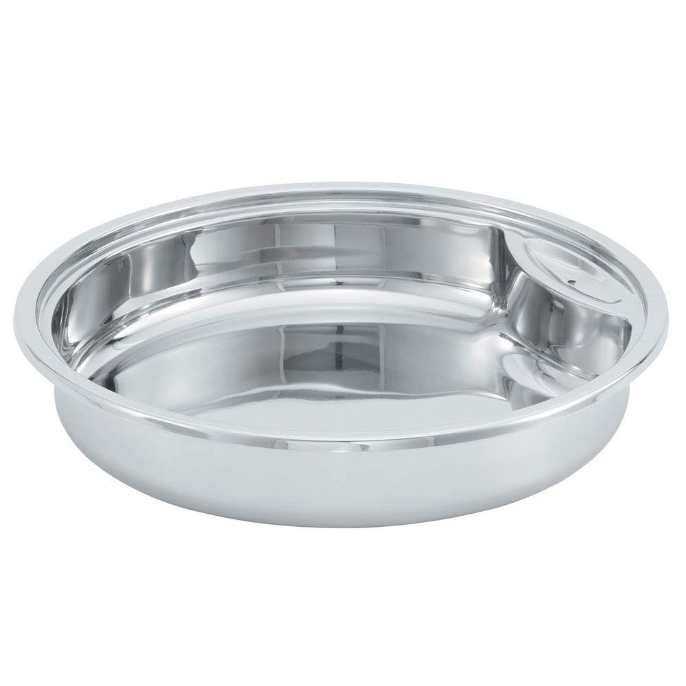 Vollrath 46131 6 Qt. Replacement Stainless Steel Food Pan for Round Intrigue Induction Chafers