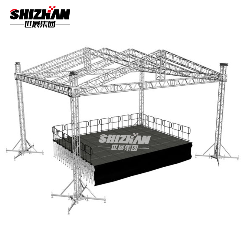 Quick Portable truss stage in truss display prefabricated timber roof trusses