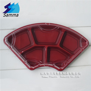 SAMMA-5201Newest Plastic Disposable bento box 5-compartment takeaway food containers tray