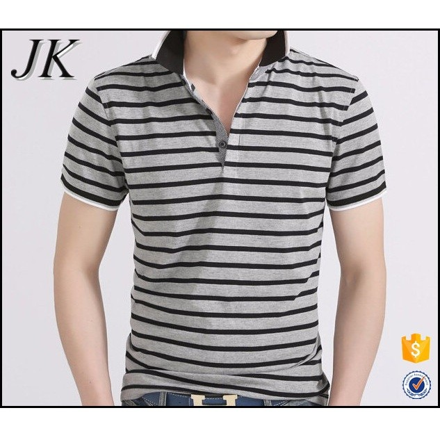 2016 Fashion New Design Men's Short Sleeve Polo T Shirt with Stripes