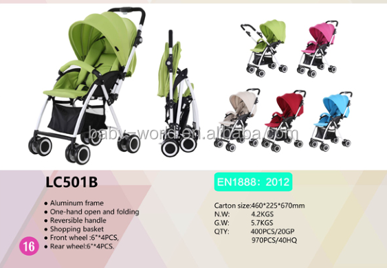 EN1888 Certificate Baby stroller With Reversible Handle