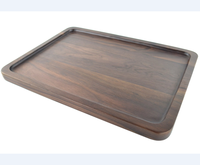 Black Walnut Solid Wood Rectangular Tableware Serving Tray