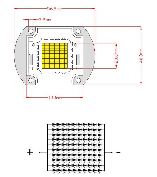 cree 100w uv cob high power led diodes