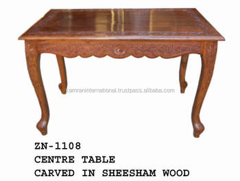 Wood Carving Vintage Table For Living Room