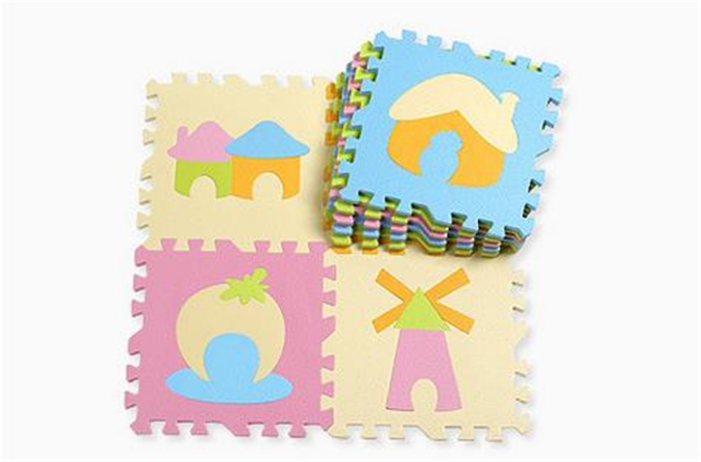 baby toys educational kids cute house eva foam puzzle mat tapete infantil playmat for baby toys 1 year new year gifts E19