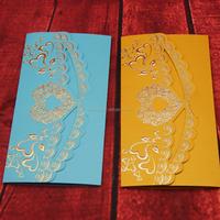 New desgin Wedding Invitations Heart Shaped Birthday Party Invitation Card Invites Shiny Pearl Paper Printable