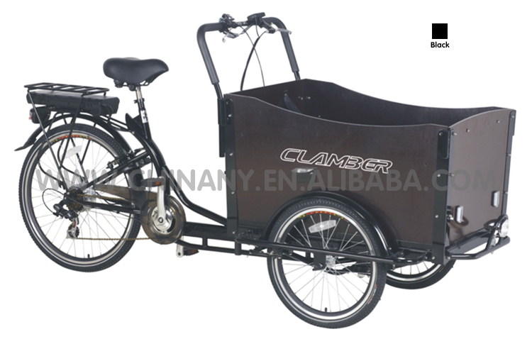 "2015 hot sale three wheel 20""/24"" Electric Cargo Bike/bakfiet/cargobike model UB9019E"