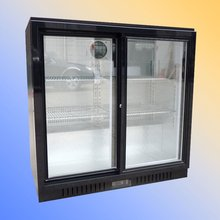 Grocery refrigeration equipment - 3 door beverage cooler/convenience store blast chiller/Compressor upright coke refrigerators