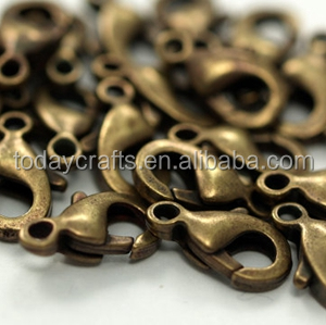 12x6 mm Antique Bronze Lobster Claw Clasp decorative key chain lobster clasp