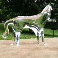 hot sale high quality glass horse figurines