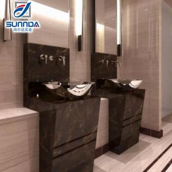 Double Loading Line Stone Imitation Polished Porcelain Flooring Tiles,porcelanto  Rose Color Floor Tile Good