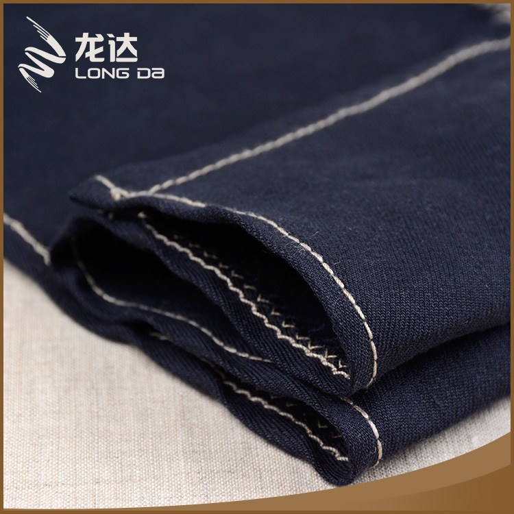 Longda popular style woven mixed wholesale linen spandex fabric for pants