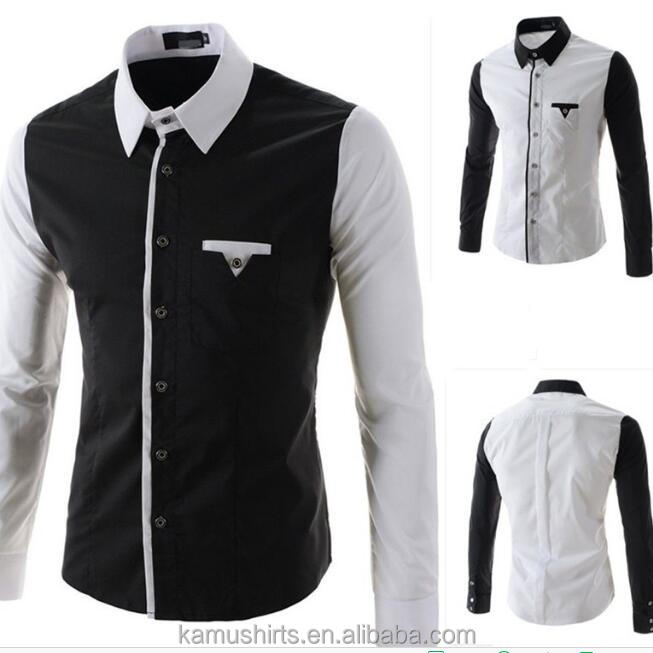 Mens New Designer 2018 Casual Slim Shirt Black White Shirts Buy White Black Dress Shirts New Designer Shirts Casual Slim Fit Shirts Product On Alibaba Com