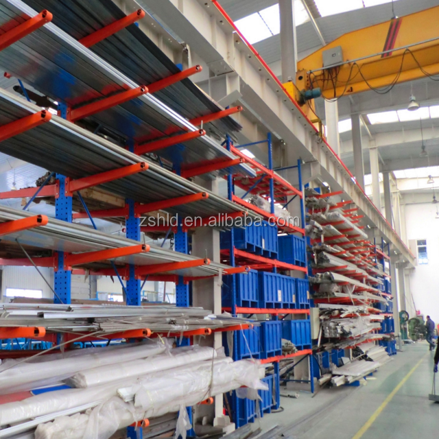 Mezzanine floor china suppliers powder coating warehouse construction material heavy duty Q235 storage rack Cantilever Racking